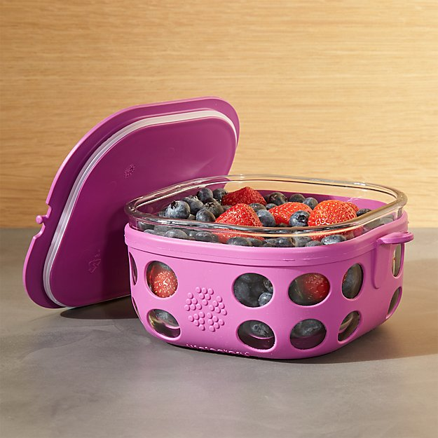 Lifefactory 4-Cup Huckleberry Purple Storage Container