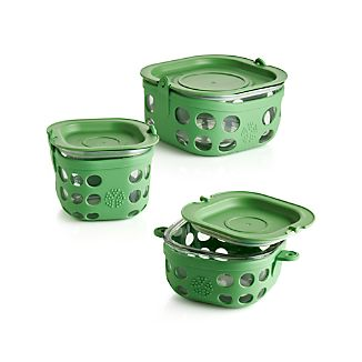 Lifefactory Grass Green Storage Containers