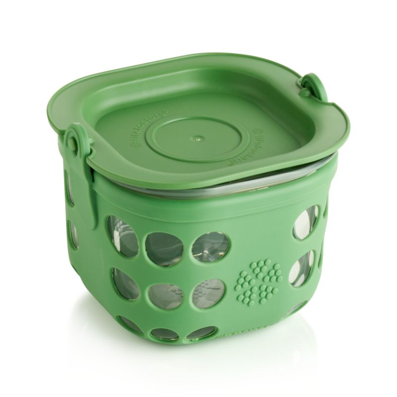 Lifefactory 2-Cup Grass Green Storage Container