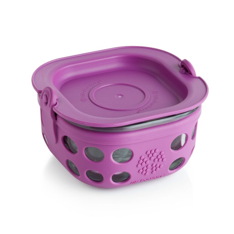 Lifefactory 1-Cup Huckleberry Purple Storage Container