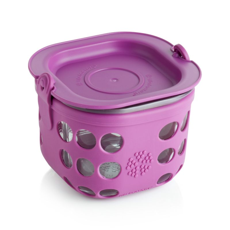 Lifefactory 2-Cup Huckleberry Purple Storage Container