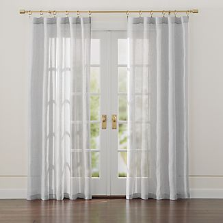 Linen Sheer Light Grey Curtains
