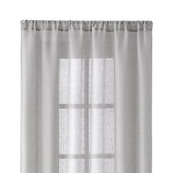 Linen Sheer 52x84 Light Grey Curtain Panel
