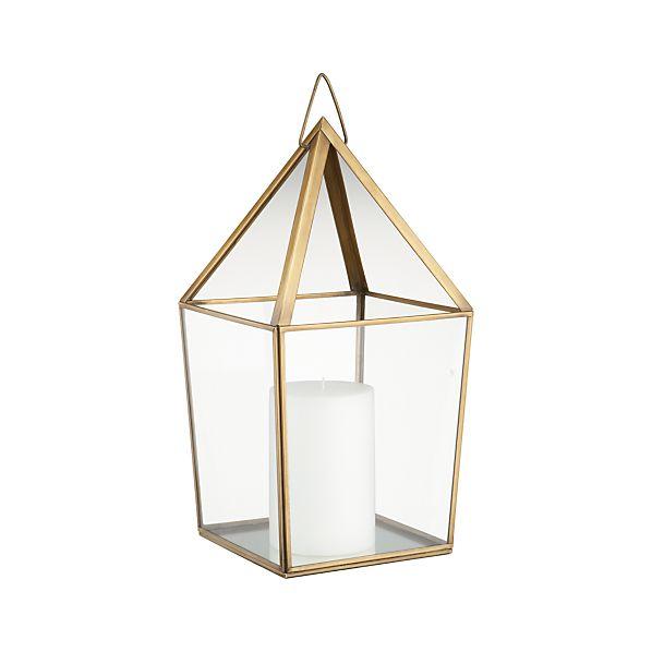 Lillian Brass Metal Lantern