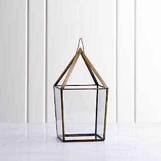 Lillian Brass Metal Large Lantern