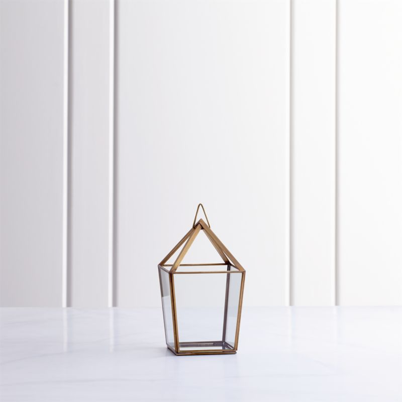 Lillian Brass Metal Small Lantern