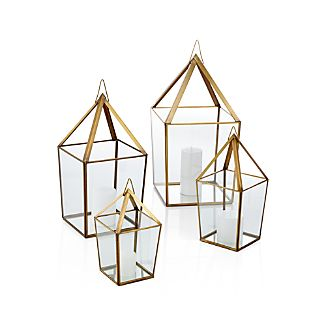 Lillian Brass Metal Lantern