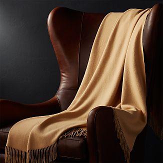 Lima Alpaca Camel Brown Throw