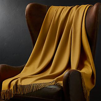 Lima Alpaca Gold Throw Blanket