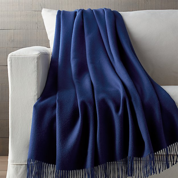 Blue Alpaca Throw Blanket Crate And Barrel