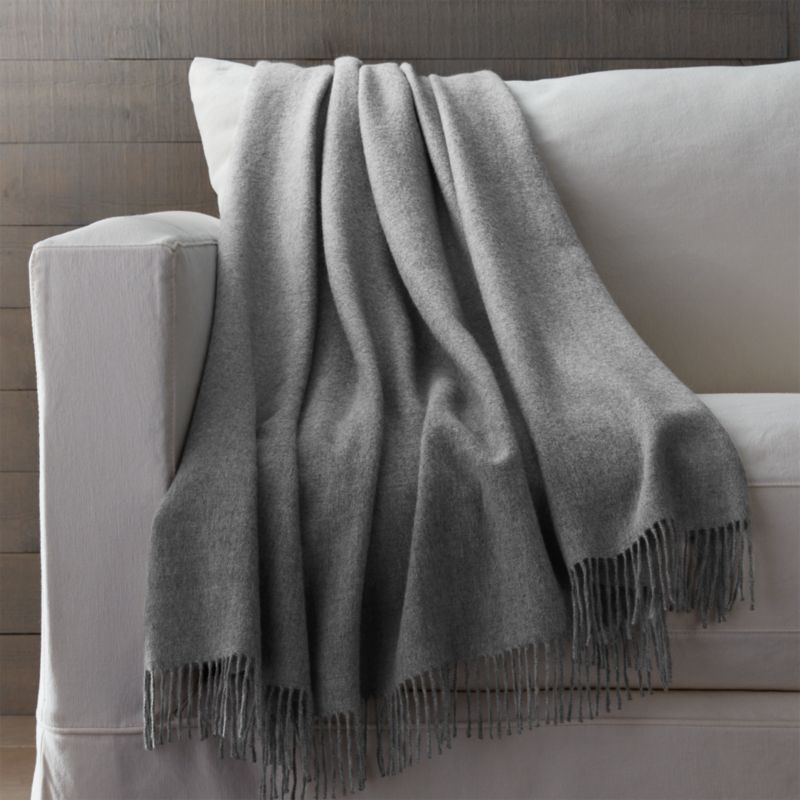 Grey Alpaca Throw Blanket Crate And Barrel