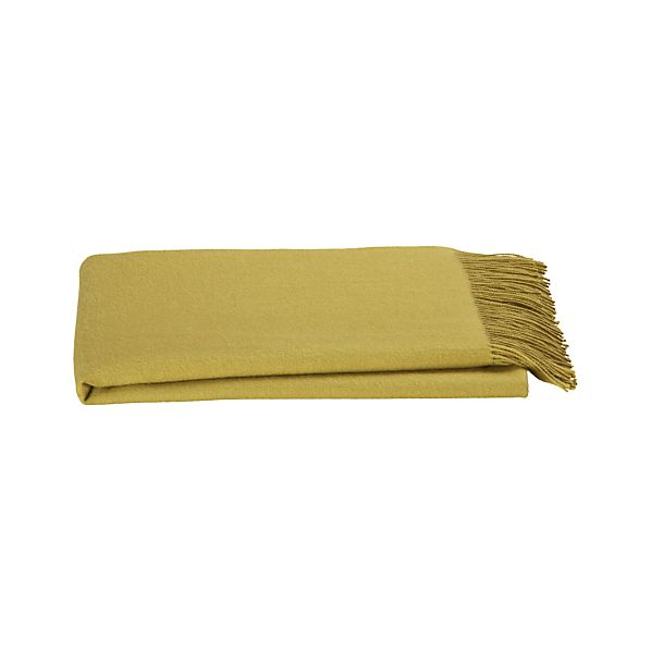 Lima Alpaca Olive Throw