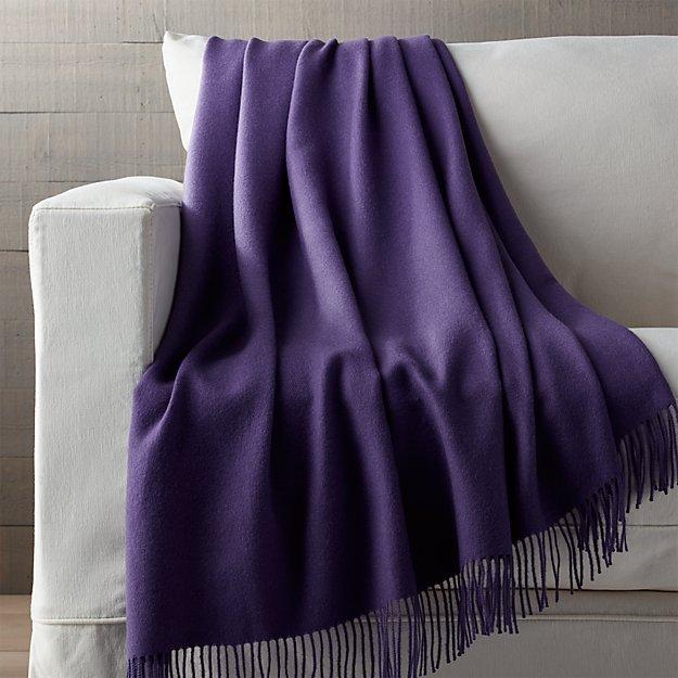 Lima Alpaca Wisteria Purple Throw Blanket
