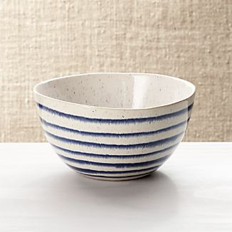 Lina Blue Stripe Cereal Bowl