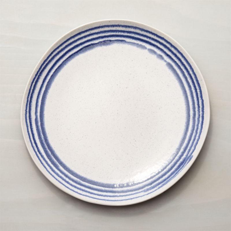 Lina Blue Stripe Dinner Plate
