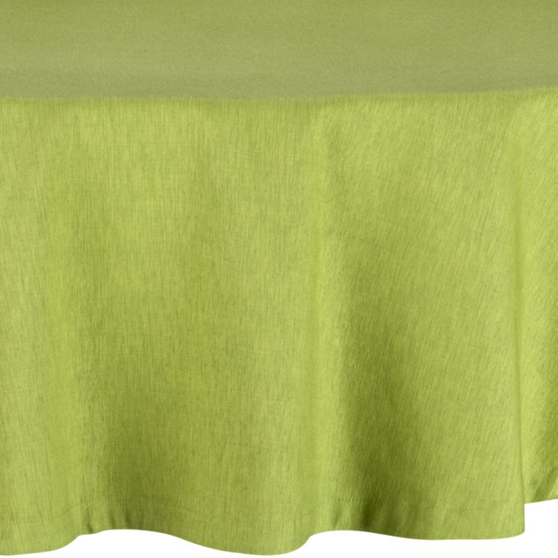 """Richly textured cotton-rayon tablecloth is woven in a tone-on-tone hue for all year round. Custom-tailored with 1.5"""" hem and mitered corners.<br /><br /><NEWTAG/><ul><li>Cotton-rayon blend tablecloth</li><li>Packaged in a reusable self-fabric storage bag</li><li>Oversized to allow for shrinkage</li><li>Machine wash tablecloth cold, tumble dry low, and iron damp</li><li>Made in India</li></ul>"""