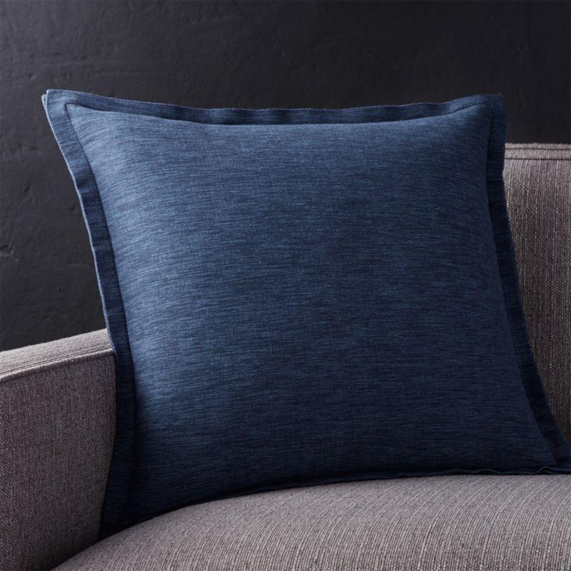 Linden Cobalt Blue Throw Pillow Crate and Barrel