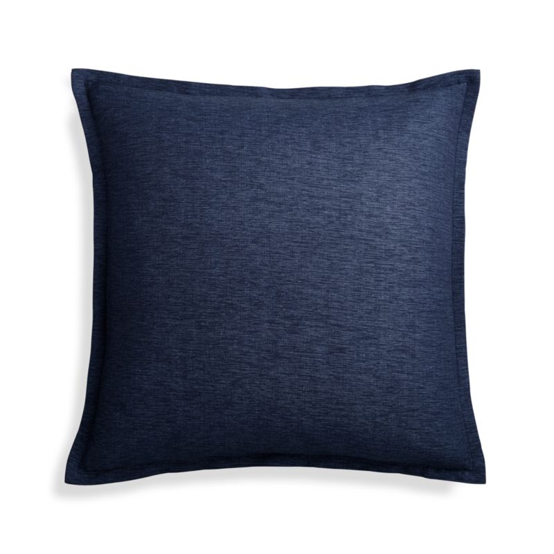 Crate And Barrel Decorative Pillow Covers : Linden Cobalt 18