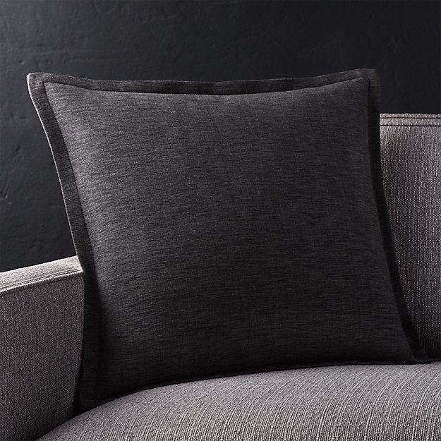 """Linden Ebony 18"""" Pillow with Feather-Down Insert"""