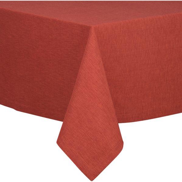 """Linden Henna 60""""x60"""" Tablecloth"""