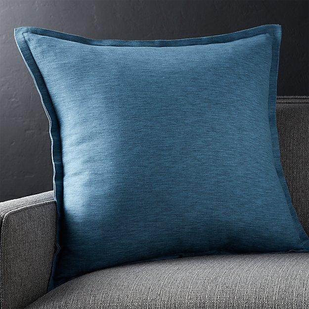 """Linden Indigo Blue 23"""" Pillow"""