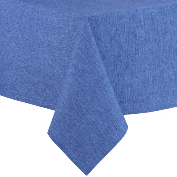 "Linden Marine Blue 60""x144"" Tablecloth"