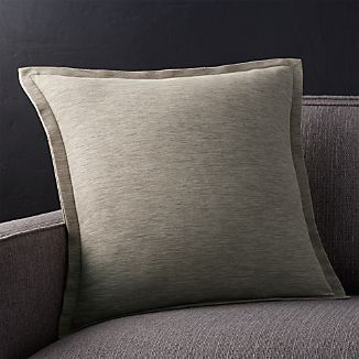 "Linden Mushroom Grey 18"" Pillow"