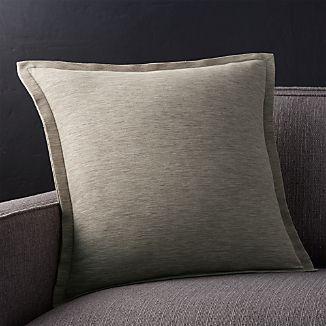 "Linden Mushroom 18"" Pillow with Down-Alternative Insert"