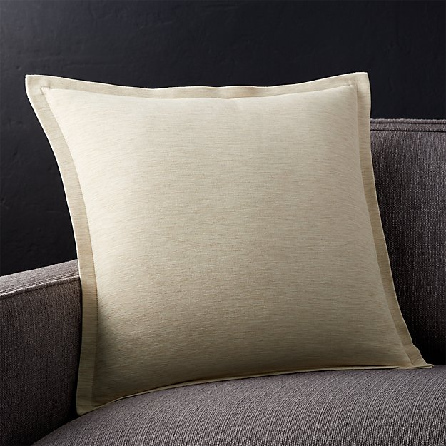 """Linden Natural 18"""" Pillow with Feather-Down Insert"""
