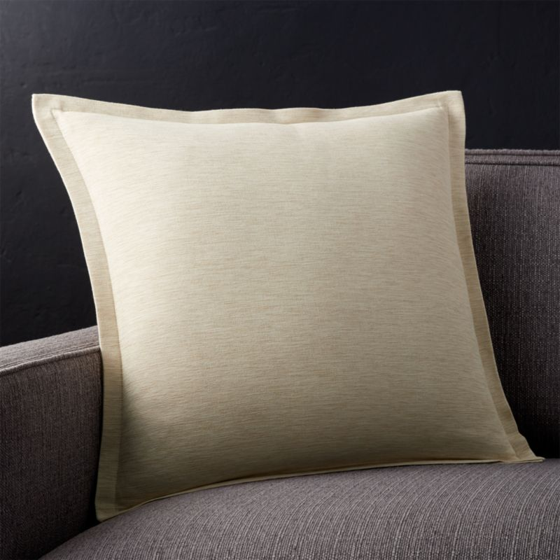 "Linden Natural 18"" Pillow with Down-Alternative Insert"