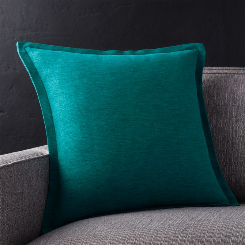 "Linden Peacock 18"" Pillow with Feather-Down Insert"