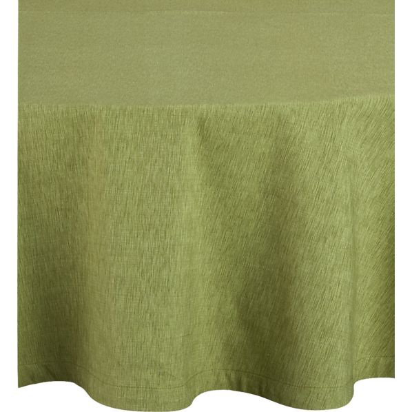"""Linden Pear 90"""" Round Tablecloth"""