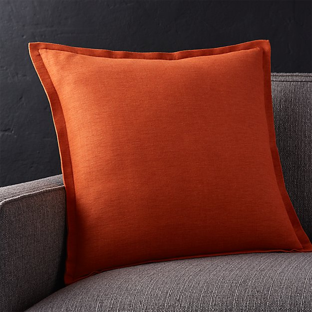 "Linden Copper 18"" Pillow with Feather-Down Insert"