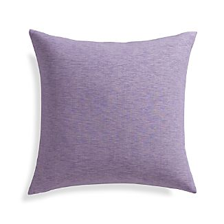 "Linden Lavender Purple 18"" Pillow with Feather-Down Insert"