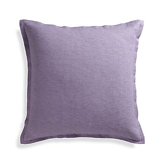 "Linden Lavender Purple 23"" Pillow with Feather-Down Insert"