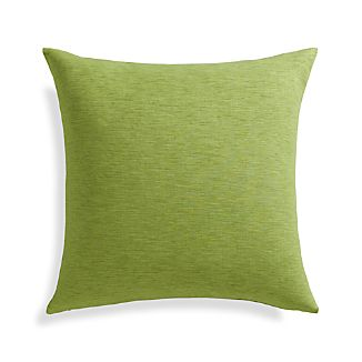 "Linden Leaf Green 18"" Pillow with Down-Alternative Insert"