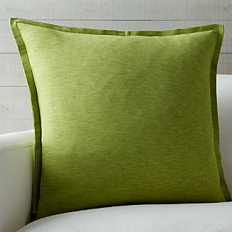 "Linden Leaf Green 23"" Pillow"