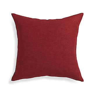 "Linden Merlot Red 18"" Pillow"