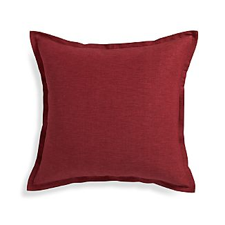 "Linden Merlot Red 23"" Pillow"
