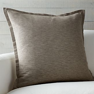 "Linden Mushroom Grey 23"" Pillow"