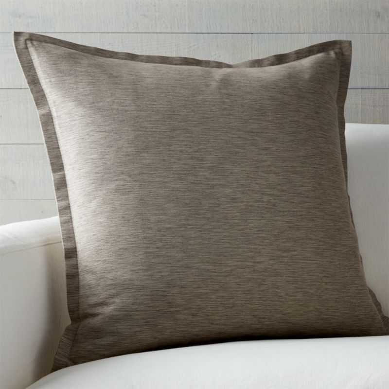 "Linden Mushroom Grey 23"" Pillow with Down-Alternative Insert"