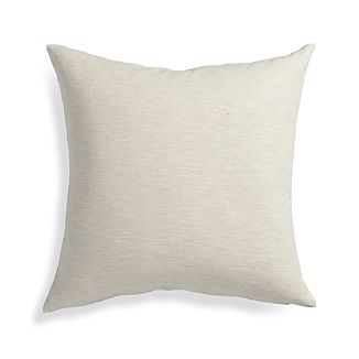 "Linden Natural 18"" Pillow with Feather-Down Insert"