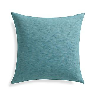 "Linden Ocean Blue 18"" Pillow with Down-Alternative Insert"