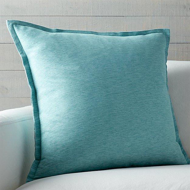 "Linden Ocean 23"" Pillow with Down-Alternative Insert"