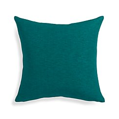 "Linden Peacock Blue 18"" Pillow with Feather-Down Insert"