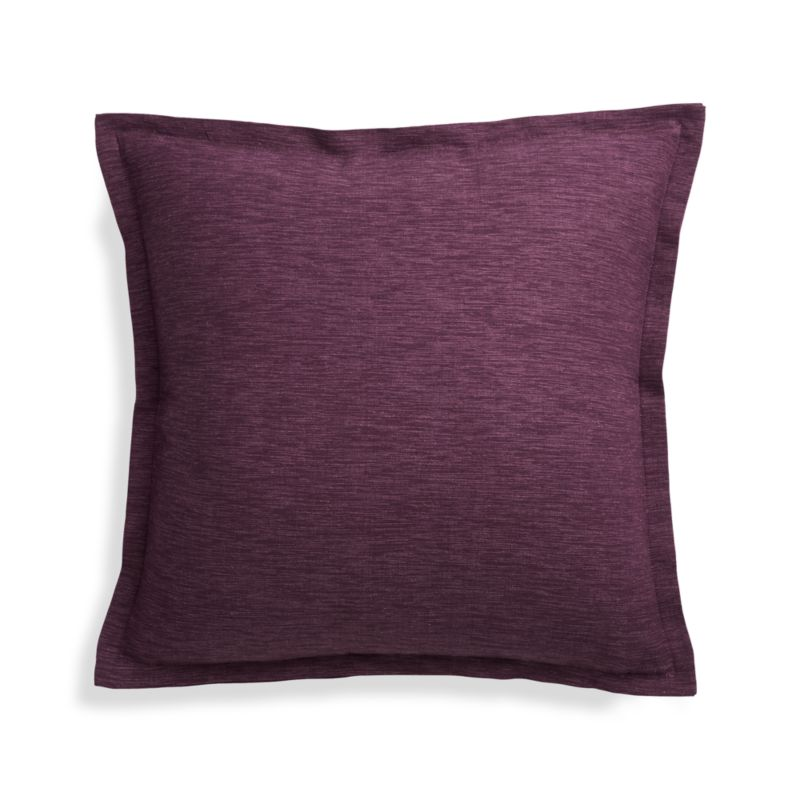 Crate And Barrel Decorative Pillow Covers : Linden Plum 18