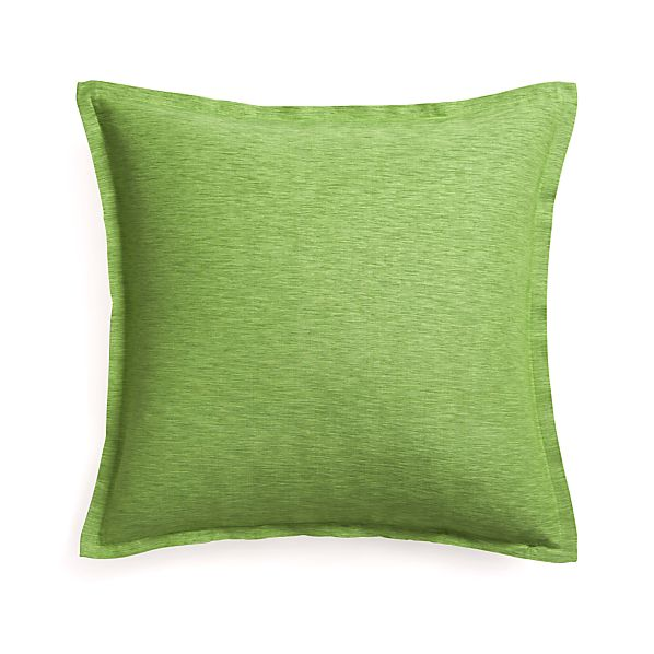 "Linden Avocado 23"" Pillow with Feather Insert"