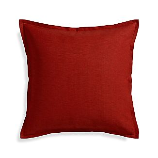 "Linden Garnet Red 23"" Pillow"