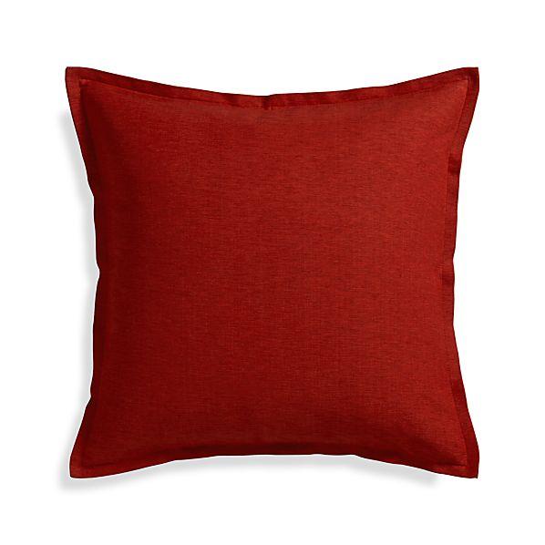 """Linden Garnet Red 23"""" Pillow"""