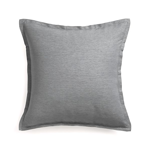 """Linden Pewter 23"""" Pillow with Feather Insert"""